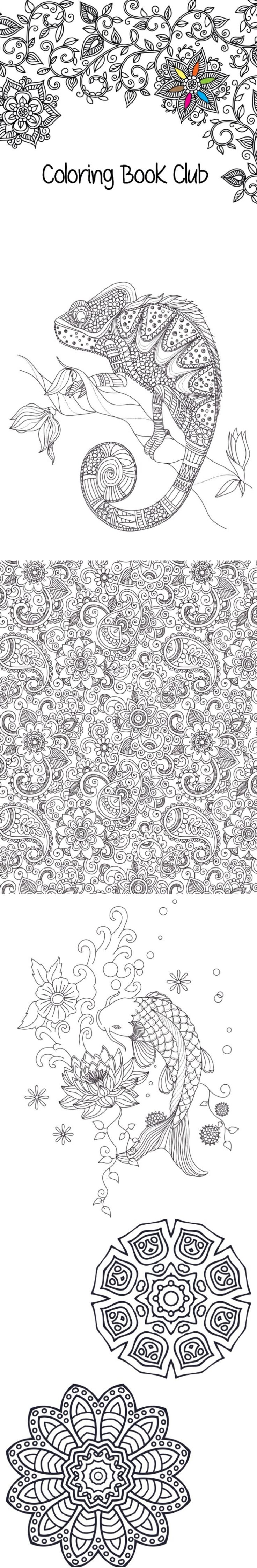 Coloring sheets perfect as a stress reliever. Take a break, color and enjoy! These designs are free for download.