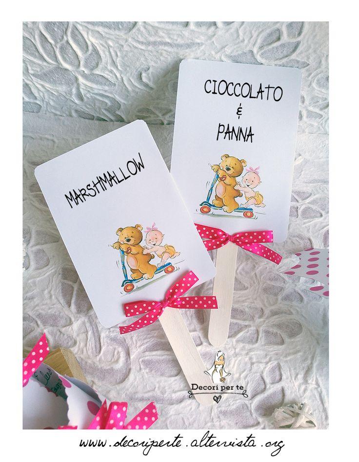 girl baptism confetti card - fuxia pois palette gusti confetti  battesimo bimba - fuxia pois