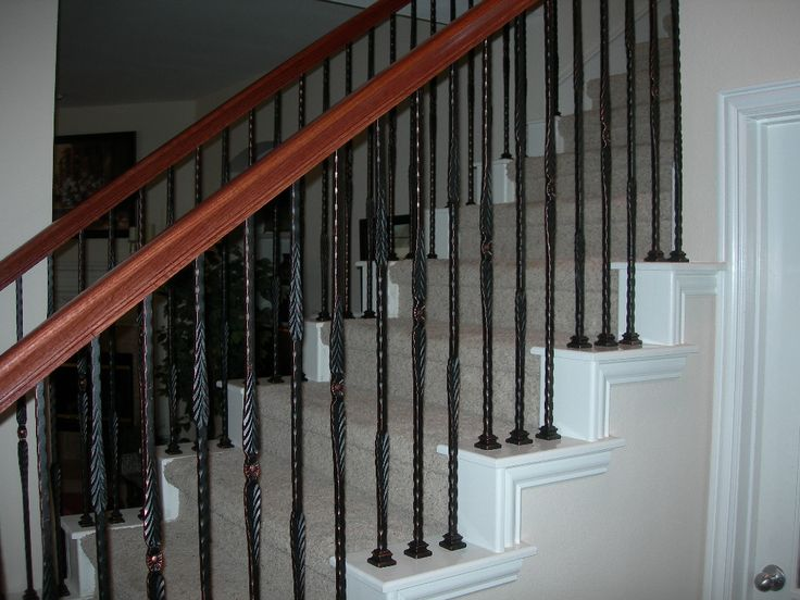 Wrought Iron Baluster Stair Spindles Check Out Wood Railing Atu2026