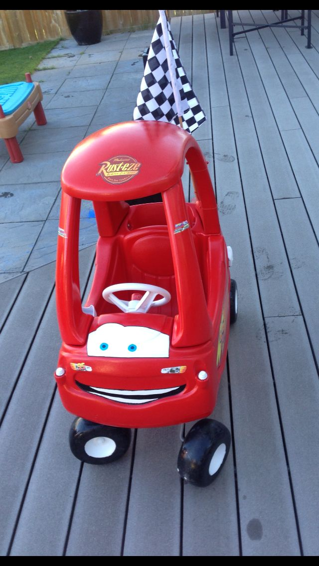 pic 2 of cozy coupe that we refurbished for carter he loves