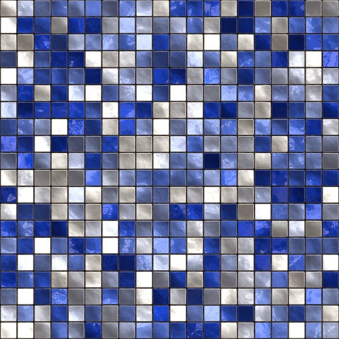 Seamless Small Blue Tiles Texture Wall Mural Pixers We Live