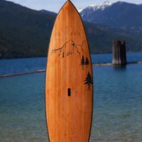 sup for river and lakes, hollow cedar strip, mountain and tree art