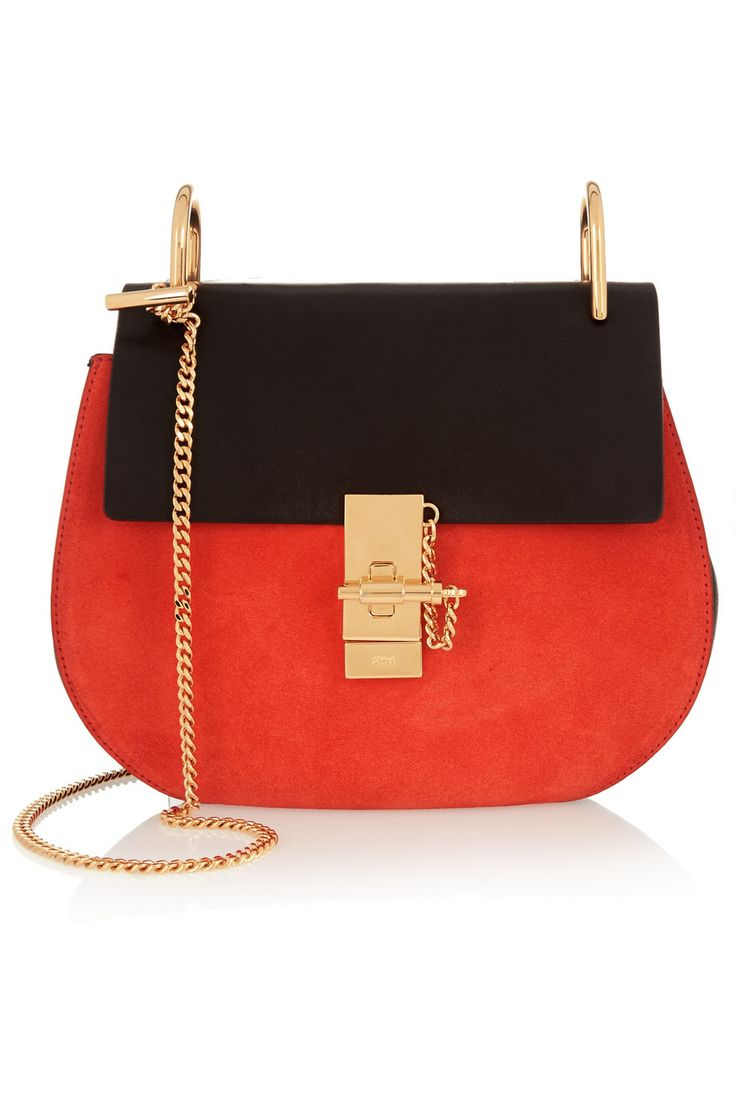 Chlo�� Drew small leather and suede shoulder bag | Wish List ...