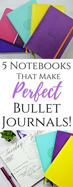 Fantastic Notebooks that make the perfect Bullet Journal!