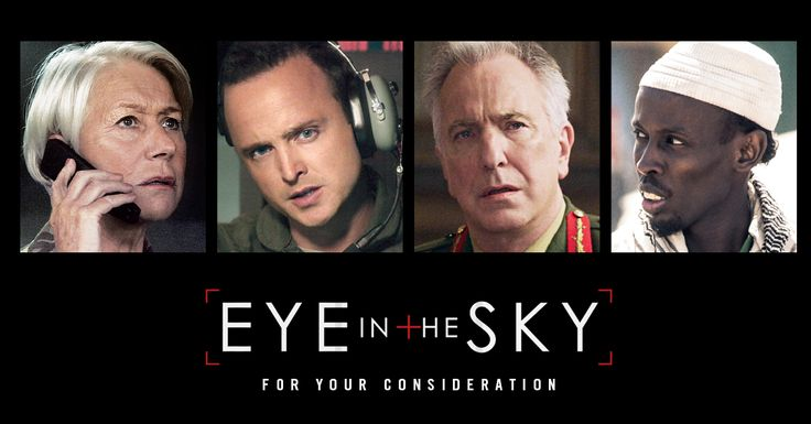 """A tense, all-star thriller. A phenomenal cast!"" - @People #EyeInTheSky #FYC http://bleecker.me/EyeInTheSkyFYC"