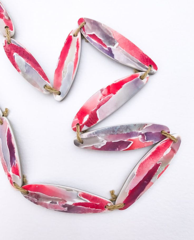 """Watercolour NATIVE"" Collection Necklace"
