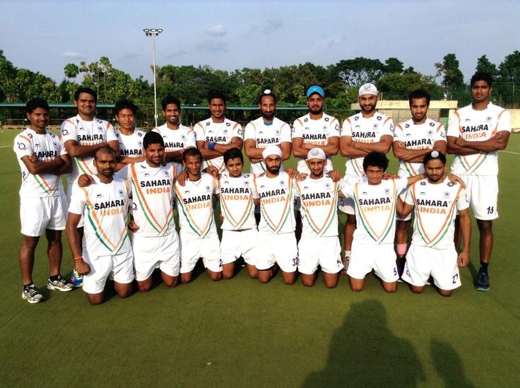 Indian team readying for the Rottardam Round 3 battle. Photo Courtesy: Hockey India