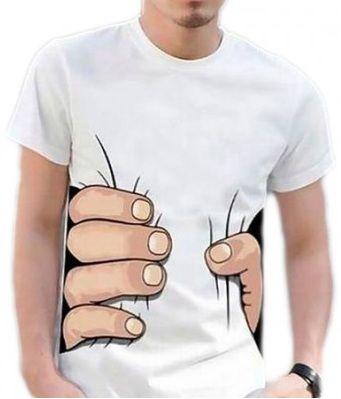 T-shirt squeezing hand [KnitCat] -> Zitolo.com