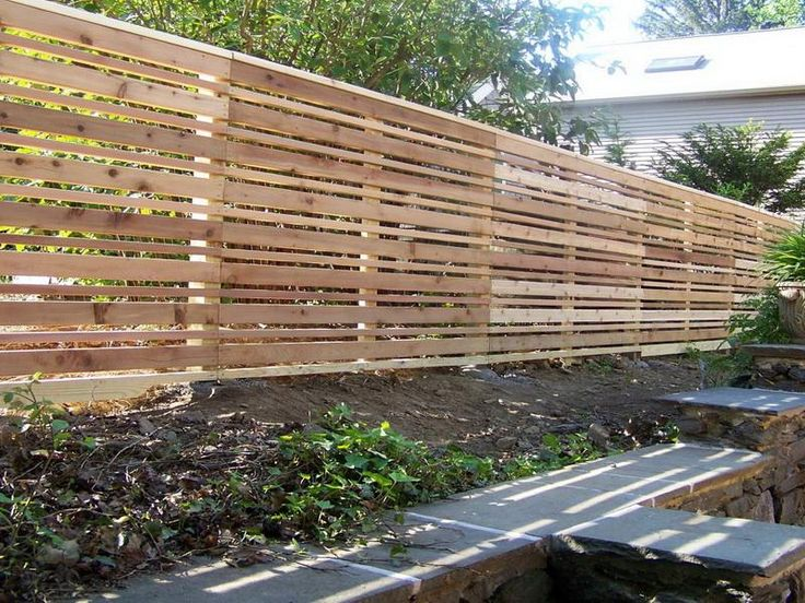 How to build horizontal wood fence woodworking projects for Horizontal house plans