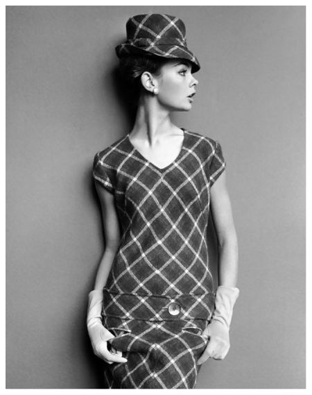 Jean Shrimpton in a Mary Quant dress for The Sunday Times February 1963 by John French