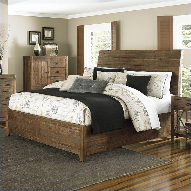 dimora bedroom set%0A Magnussen River Ridge Wood Island Bed in Natural