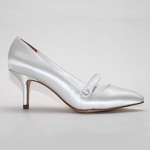 david tutera vintage white  Wedding Shoes