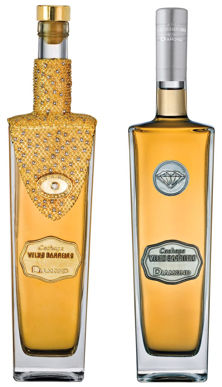 This is the most expensive Cachaça of the world. The bottle is also very special. It has diamonds (total of 7,3 karats), gold and silver attached to a french cristal bottle. The price is around U$100,000,00 each bottle and the producer will use part of it, for social actions For those who does not know what Cachaça is... http://en.wikipedia.org/wiki/Cacha%C3%A7***