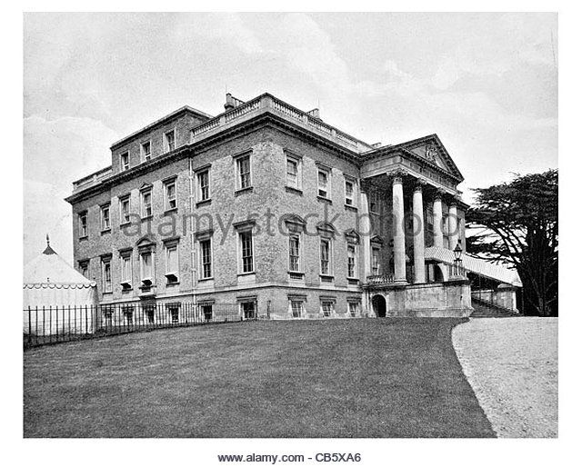 Claremont country house Clermont Palladian mansion Surrey England Fan Court School - Stock Image