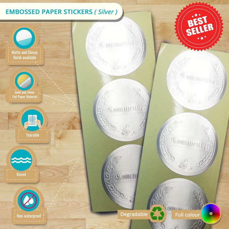 Have your #stickers stylized with our #EmbossedPaperStickers. Get this for as low as $162 only! Before that check this #infographic first.