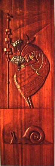 Oxalufan - sculpture of Carybé in wood, exibit in the Museum Afro-Brazilian, Salvador, Bahia, Brasil