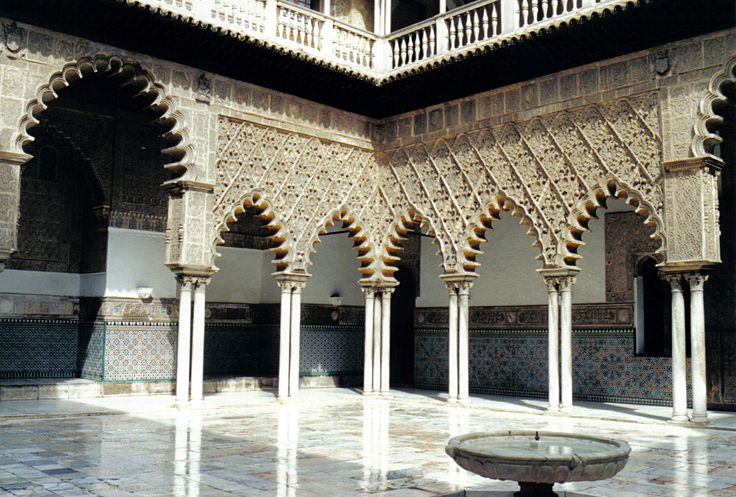 Image issue du site Web http://upload.wikimedia.org/wikipedia/commons/b/b0/Alcazar_de_S%C3%A9ville_-_Patio_de_la_Doncellas.JPG