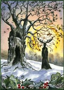 Druids Trees:  The Stag Lord at the Winter Solstice.