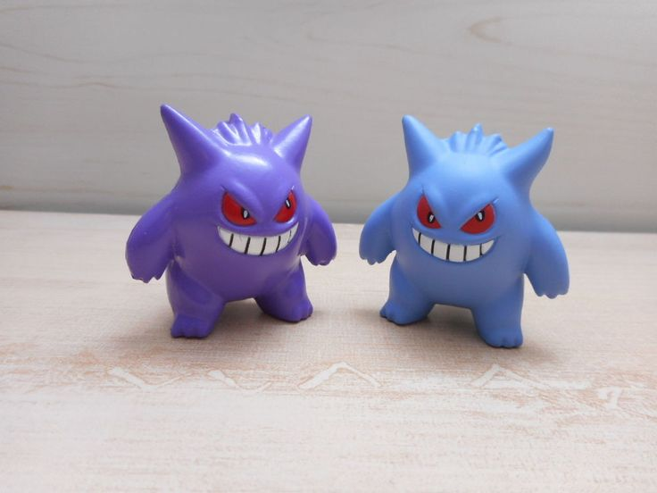 Pokemon Tomy Gengar Shiny Figure Normal Monster Collection Toy Set #TOMY