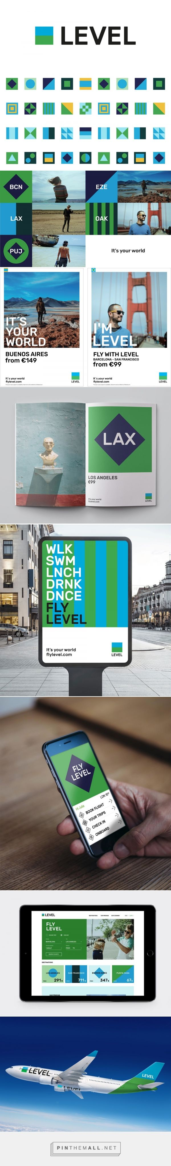 Brand New: New Logo and Identity for LEVEL by Brand Union... - a grouped images picture - Pin Them All