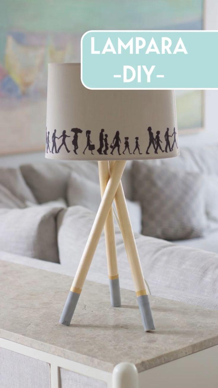 Diy Originales, Money Making Crafts, Diy Y Manualidades, Easy Home Decor, Tripod Lamp, Some Ideas, Creative Decor, Lampshades, Floor Lamp