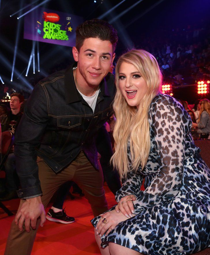 Pin for Later: The Best Snaps From Last Year's Kids' Choice Awards Nick Jonas and Meghan Trainor