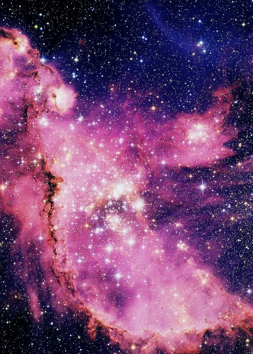 Pink starsPink Univers, Art Spaces, Incredible Universe, Galaxies, Ngc 346, Fairy Dust, Pink Stars, March, Spaces Awesome