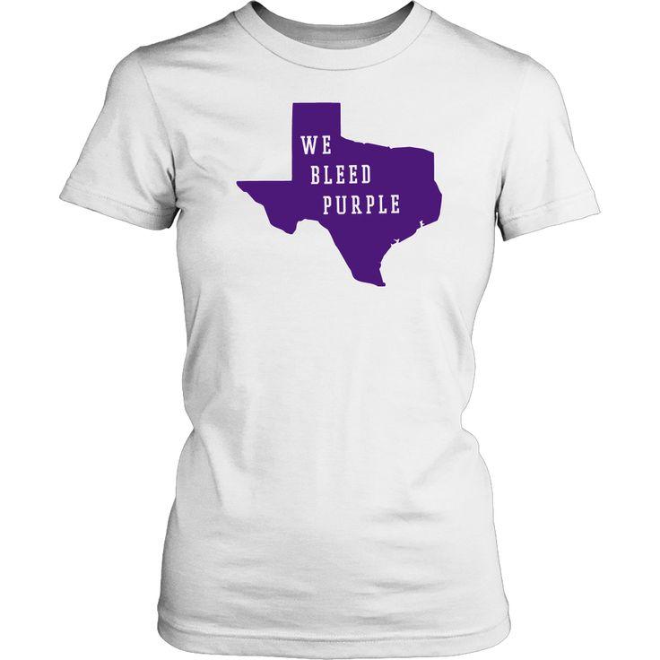 TCU Solid Purple We Bleed Purple Women's T-Shirt Classic Fit