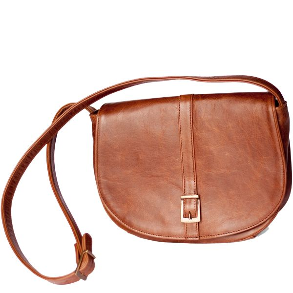Stone waterproof lining 	Zipped inner pocket 	Zipped outer pocket 	Adjustable shoulder strap 	Magnetic clasp 	Hand crafted in South Africa 	Finest hand selected distressed bovine leather 	Available in brown 	H 19cm  x W 26cm