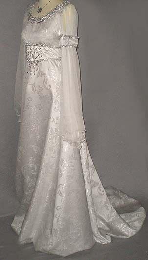 Brautkleid Silber-Weiss