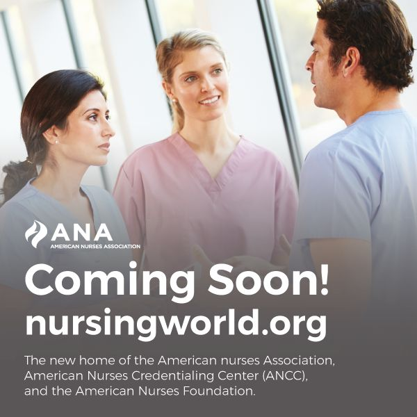 Parts of our site will be down for maintenance this weekend, 3/16-3/19. We are very excited to be rolling out a new NursingWorld.org w/resources from across the ANA Enterprise. We apologize for any inconvenience & look forward to introducing you to our new site.
