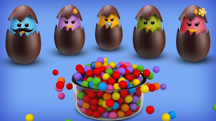 Chocolate Eggs Finger Family Rhyme | Easter Finger Family Songs