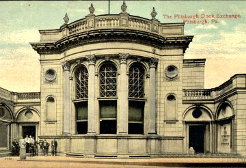 Today in Allegheny County History - On Oct. 23, 1907, the Pittsburgh Stock Exchange closed for a three-month period due to the Panic of 1907, a financial crisis that occurred when the New York Stock Exchange fell almost 50% from its peak in 1906. There were numerous runs on banks and trust companies, and many state and local banks and businesses entered bankruptcy.