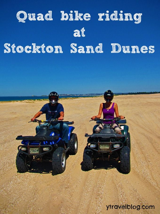 Quad biking at Stockton Sand Dunes, Newcastle, Australia includes video: http://www.mojitomother.com/2012/10/quad-bike-riding-stockton-sand-dunes/