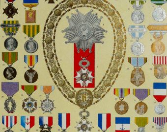 Medals Orders & Decorations 1897 Antique Print by Craftissimo