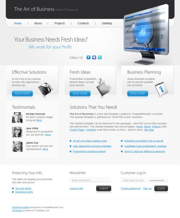 36 High Quality Templates & Tutorials To Design Business Website