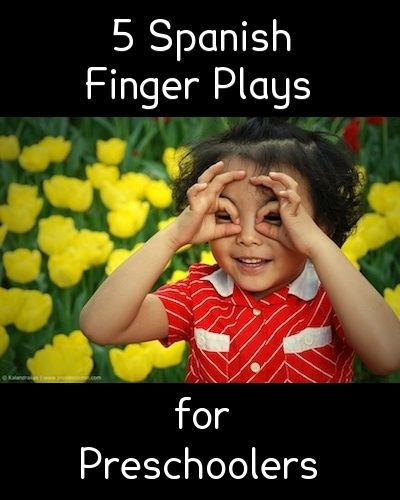 Spanish finger plays for preschoolers with a printable of the rhymes  http://www.spanishplayground.net/5-spanish-finger-plays-preschoolers/
