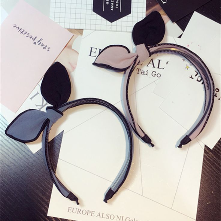 >> Click to Buy <<  A new style of female rabbit ear ribbon band headscarf Fashion girl hair accessories jewelry girl has a hoop on her head #Affiliate