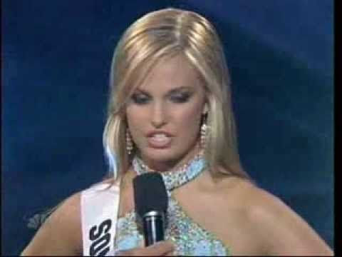 Uhhh...what did she just say?? Miss Teen South Carolina 2007 - Caitlin Upton - YouTube