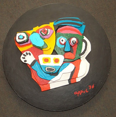"Karel Appel ""Floating Family"" original stone sculpture"