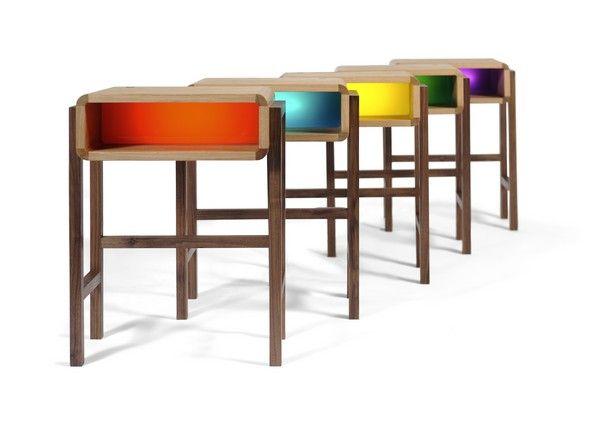 modèle table de chevet lumineuse
