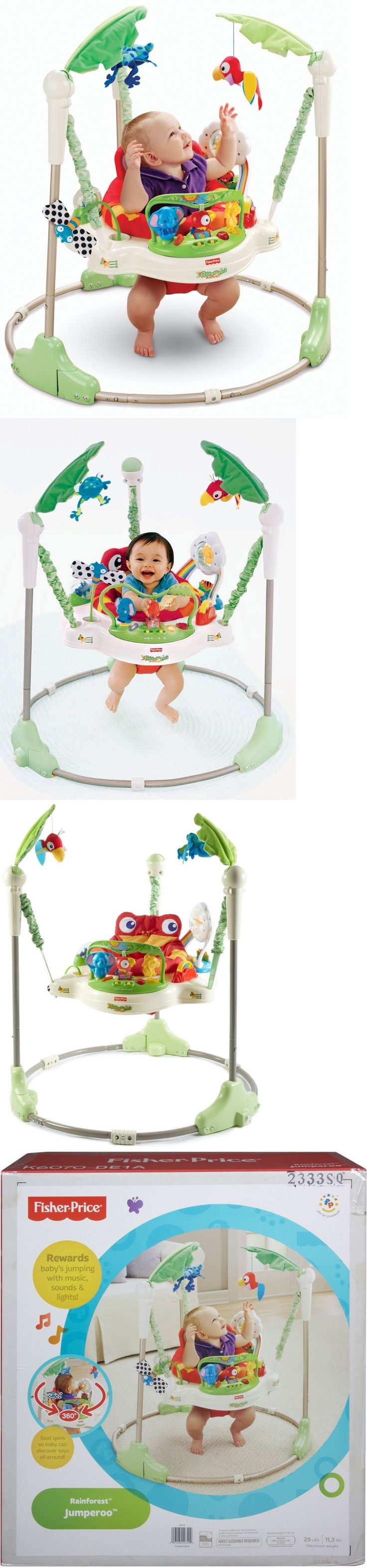 Baby Jumping Exercisers 117032: Fisher-Price Rainforest Jumperoo Baby Activity Center Seat Toy Jumper Bouncer -> BUY IT NOW ONLY: $129.94 on eBay!