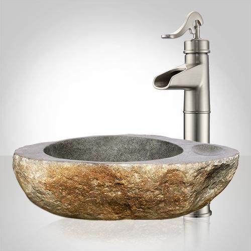 Inola River Stone Vessel Sink in 2018 Bathroom Sink Ideas