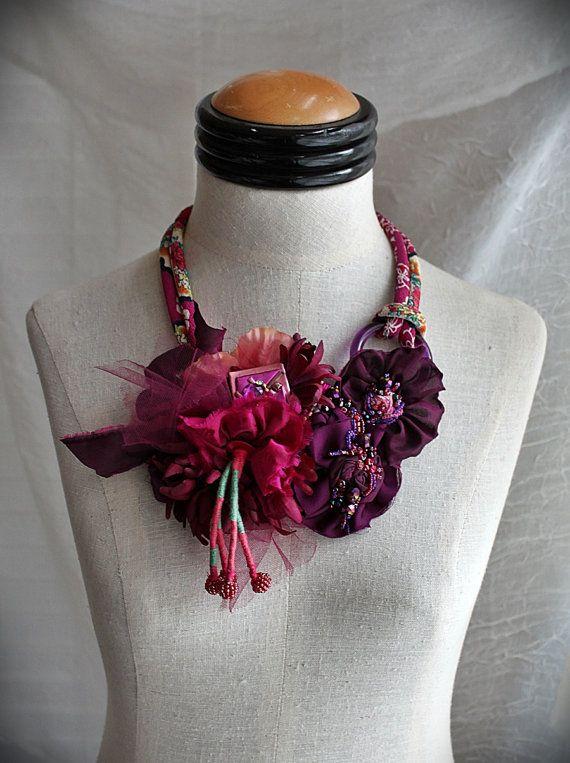 SANTA ROSA Plum Purple Mixed Media Textile от carlafoxdesign