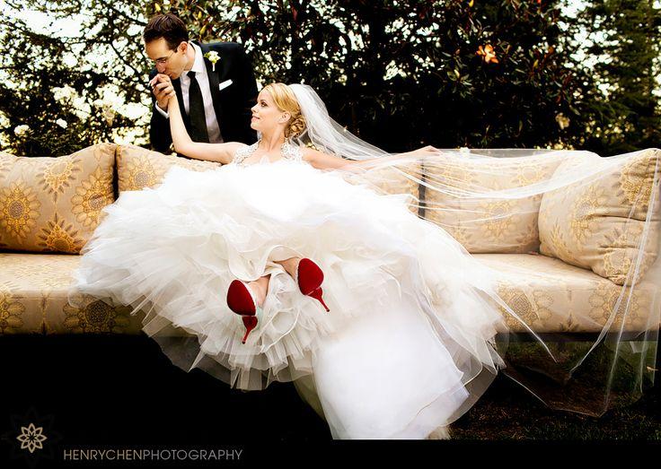 Ines Di Santo dress + Christian Louboutins \u003d #wedding #heaven ...