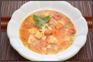 ŐRÜLTEN  JÓ ÉTELEK : Karfiol és kolbász avagy Egy leves, kiigazítva