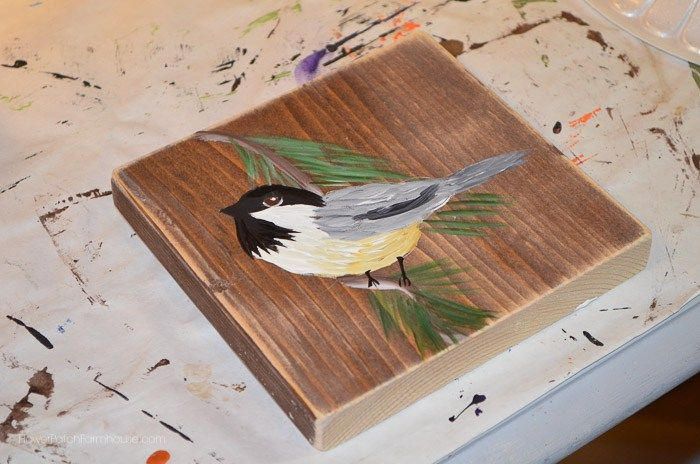 Learn How to Paint a Chickadee, FlowerPatchFarmhouse.com