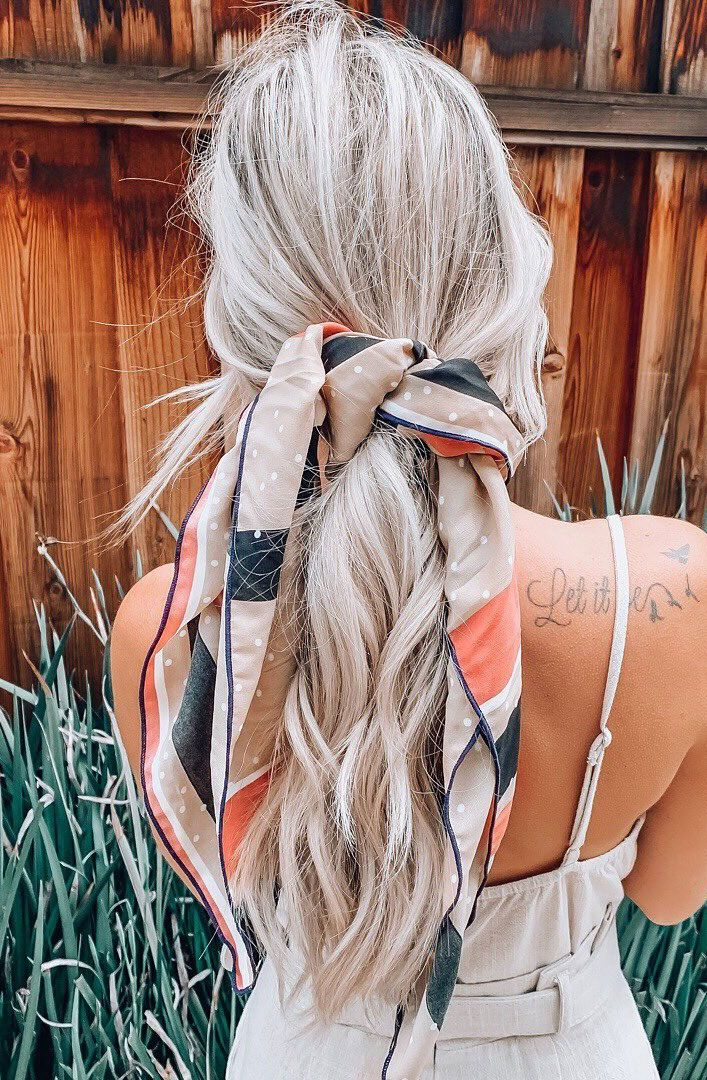 21 Pretty Ways To Wear A Scarf In Your Hair Scarf Hairstyles Ways To Wear A Scarf Hair Styles