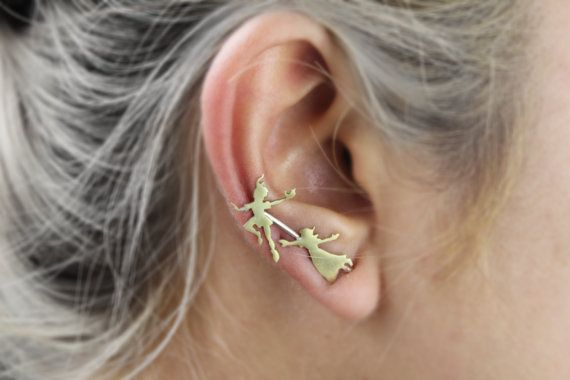 Peter Pan and Wendy Ear Pin/Climber Peter Pan by TempestSociety
