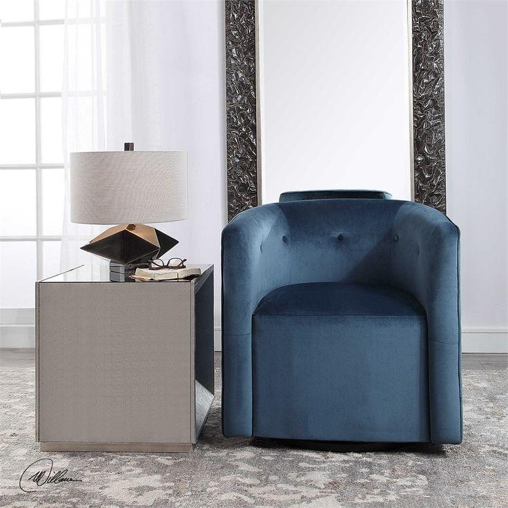 Best Uttermost Mallorie Blue Swivel Chair Furniture Chair 640 x 480